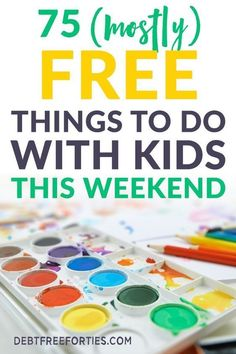 Finding somthing to do with the kids this weekend doesn't have to be difficult or expensive. I've covered family things to do, indoor activities, at home activities, and free things to do near you with kids here! Things To Do At Home, Free Things To Do, Fun Things, Indoor Activities, Preschool Activities, Best Money Saving Tips, Money Tips, Saving Money, Dave Ramsey