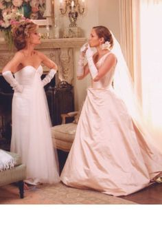 The 32 best movie wedding gowns of all time: Jennifer Lopez and Jane Fonda in Monster-in-Law