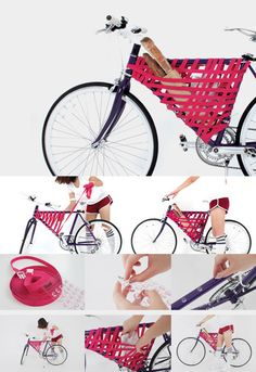 Cool and innovative DIY solution to carrying miscellaneous items while on your bike. Compact, cost effective and handy.