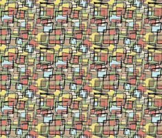 Mid Century Summertime by Hollywood Royalty at Spoonflower. Mid Century - Retro - Vintage style designs Available as Wallpaper, Gift Wrap and Fabric just click on the visit button.