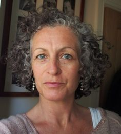 Pip Bacon Short Permed Hair, Short Curly Hairstyles For Women, Permed Hairstyles, Cute Hairstyles, Curly Hair Styles, Growing Out Pixie Cut, Grown Out Pixie, Transition To Gray Hair, Grey Scale