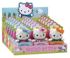 Jemini  Hello Kitty Mini Plush Figures in Flower Pots Display 10 cm 18 * Click image to review more details.Note:It is affiliate link to Amazon. #HelloKitty