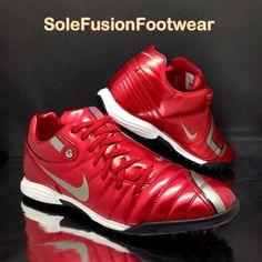 6da78d74053a20 Nike mens Total 90 Football Trainers Red sz 9 Shift Soccer Sneakers US 10 EU  44