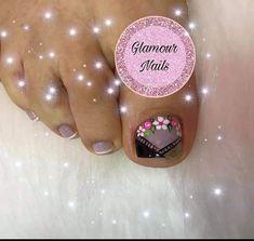 Glamour Nails, Veronica, Nail Designs, Hair Beauty, Sour Cream, Flower, Finger Nails, Toe Nail Art, Simple Toe Nails
