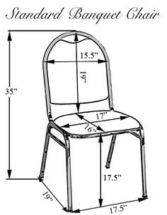 Banquet Chair Covers - Sizing Chart