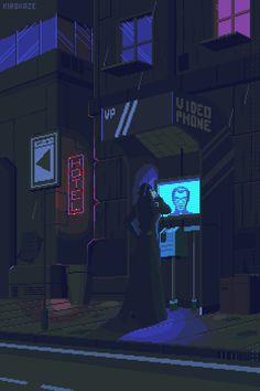 Various Cyberpunk Pixel Art Vaporwave, Pixel Art Gif, Pixel City, Arte 8 Bits, Pixel Art Background, Space Opera, Pixel Animation, 8bit Art, Retro Waves