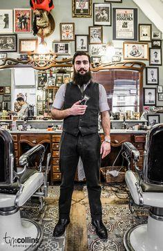 full thick black beard and curled mustache beards bearded man men mens' style dapper  barber handsome #beardsforever