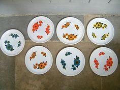 Lotus, Decorative Plates, France, Dessert, Retro, Tableware, Collection, Pyrex, Vintage Crockery