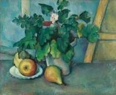 Pot of Primroses and Fruit  by Paul Cézanne  The Courtauld Gallery        Date painted: c.1888–1890      Oil on canvas, 46 x 56.25 cm      Collection: The Courtauld Gallery