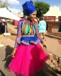 Sepedi Traditional Dresses, South African Traditional Dresses, Traditional Wedding Attire, African Traditional Wedding, Traditional Fashion, Traditional Ideas, African Wedding Dress, African Print Dresses, African Print Fashion