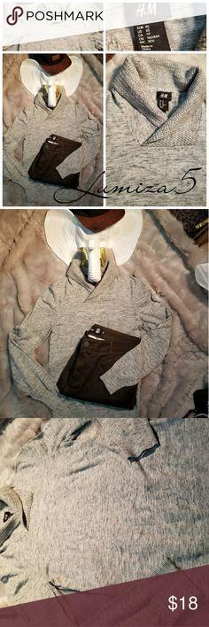 Mens H&M Cowl Sweater NWOT Mens H&M Light Gray Cowl Sweater Mens size XS H&M Sweaters