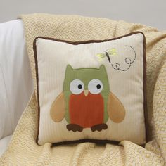 Designed exclusively for Babies R Us by Lambs & Ivy®, this sweet curious owl named Winky is appliqued on a soft creamy textured background in a cotton/poly blend. The back of the pillow is a diamond shaped print with a yellow designer detail. | eBay!