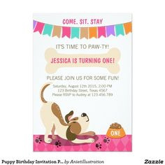 Delighted dogs free printable birthday invitation template puppy birthday invitation paw ty puppy party filmwisefo
