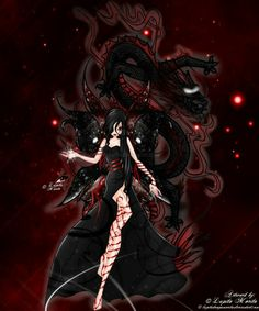 Fata con dragone