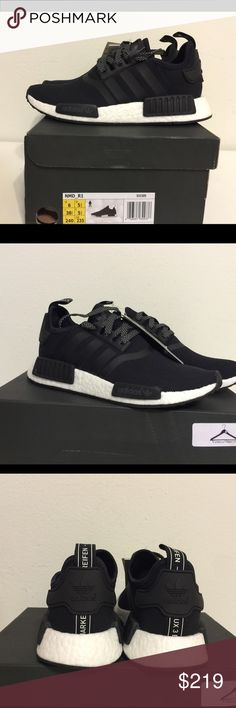 Adidas NMD R1 black 3M reflective Size us5 mens (=us6 womens). Size us 6mens (=us7 womens). 100% Authentic. Adidas Shoes Athletic Shoes