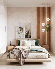 Modern Bedroom Design, Home Room Design, Bed Design, Home Interior Design, Interior Design Brief Example, Interior Design For Apartments, Modern Small Apartment Design, Modern Luxury Bedroom, Japanese Interior Design