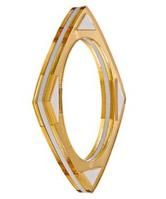 Gold mirrored lucite bangle