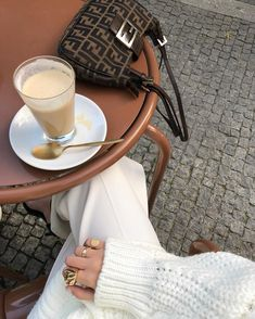 Fendi Bag bag, and drink Cs Lewis, Coffee Photography, Fendi Bags, Beige Aesthetic, Mode Inspiration, Parisian Style, Fashion Outfits, Womens Fashion, Fashion Clothes