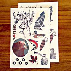 tatouages temporaire ensemble sorti du bois