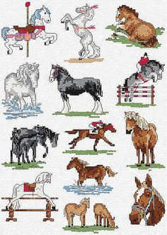 cross stitch easy horse - Google Search