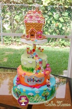The cake stand and the Lalaloopsy house on top of it are all made out of fondant and gum paste. Description from cakesdecor.com. I searched for this on bing.com/images
