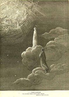 c1880 Dante Alighieri The Divine Comedy Gustave Dore Vision Purgatory Paradise
