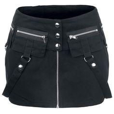 Falda corta con cuatro bolsillos, dos cintas y cordón trasero.