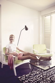Polka dots and heels. Sophie Holmes & Lucien Thomkins by Pasquale Abbattista for Elle Germany May 2011