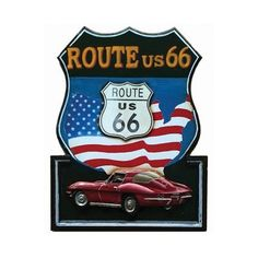 RAM Gameroom Products R862 Route US 66 Sign