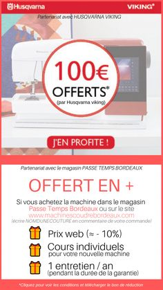 Mes codes promos et bons plans Janome, Dress Sewing Patterns, Sewing Patterns Free, Mercerie Paris, Husqvarna Viking, Top Les, Nom Nom, Coding, How To Plan