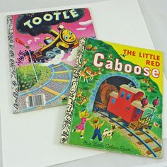 Tootle & Little Red Caboose 2 little golden books fun to share with children or grandchildren