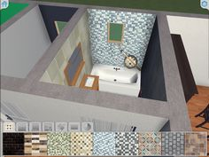 Painting your bathroom without getting your hand dirty. Application 3d, Interior Decorating, Interior Design, Decoration, Toddler Bed, New Homes, Bathtub, House Design, Bathroom