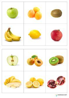 Доделала сегодня лото. В игре надо будет не просто найти пару, а найти такой же овощ или фрукт в разрезе, что не только поможет развить ...