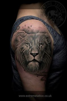 Lion tattoo, done at Extreme Tattoo&Piercing Inverness,Highland, Scotland by Calin Matkovski. At our studio,you can get all kind of tattoos and piercings, like Realistic, Black and grey tattoo,Japanese tattoo,Traditional, Floral,Chinese tattoo,Fine line art tattoo, Old school tattoo,Maori tattoo, Religious tattoo, Pin-up tattoo, Celtic tattoo, New school tattoo,Oriental tattoo, Biomechanical tattoo and lots of other designs .For bookings,email studio@tattooscotland.co.uk!