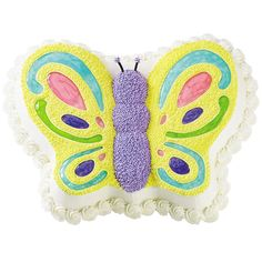 Spring's first butterfly lands at your celebration with our dazzling Gliding and Glowing Cake. Shimmering pastel wing details in tinted piping gel enhance the beautifully shaped Butterfly Pan cake. It's a perfect idea for Mother's Day, showers and birthdays.