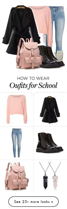 """School in the Winter"" by taylor0016 on Polyvore featuring H&M, Bling Jewelry, Glamorous, Rebecca Taylor and Forever 21"
