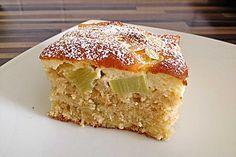 Rhabarberkuchen mit Schmandhaube