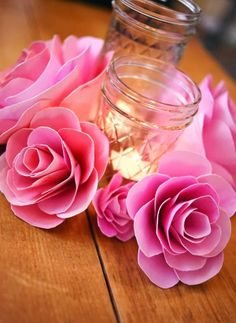paper flowers DIY / Fiori di carta! Idea per un centrotavola fai da te