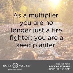 Go forth & multiply! #quote #discipline #motivation #inspiration #productivity #success #decision #leadership #POPbk #roryvaden