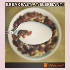 Start your day with some awesome breakfast. Have a great week ahead! - @elephanti