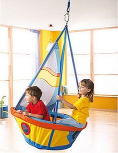 WOW!  What kids wouldn't love an indoor swing?