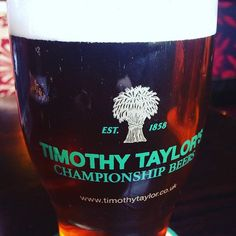 Pint of Timothy Taylor. Why not? It is the weekend after all. #beer