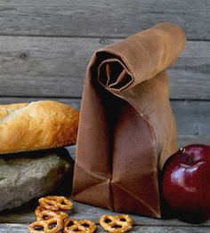 """The """"Brown"""" Bag - Waxed Canvas Reusable Lunch Bag / Lunch Tote: Kitchen & Dining Designer Lunch Bags, Reusable Lunch Bags, Lunch Tote, Caramel Brown, Waxed Canvas, Cotton Canvas, Brown Bags, Brown Paper, Homemade"""