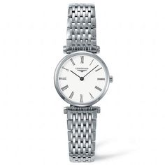CASEShape: RoundMaterial: Stainless SteelGlass: SapphireDimension: 24.00mmWater Resistance: 30 meters (100 feet) MOVEMENT AND FUNCTIONSCaliber: 209 QuartzFunction: Hours and minutes. BRACELETBracelet Material: Stainless Steel NAGI Jewelers is an Authorized Longines Retailer. Available for Order. (Orders Placed today will ship in approximately 4-6 weeks.) Stainless Steel Watch, Stainless Steel Bracelet, Mens Gift Sets, Lady, Balmain, Watches For Men, Ladies Watches, Wrist Watches, Jewelry Watches