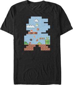 Shape of Super Mario T-Shirt - Super Mario Bros T-Shirt