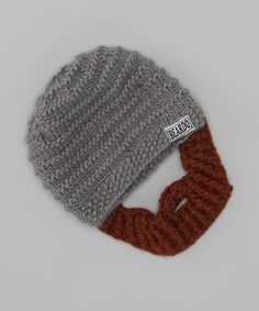 Take a look at this Gray Beanie & Brown Beard - Kids by Beardo on #zulily today!