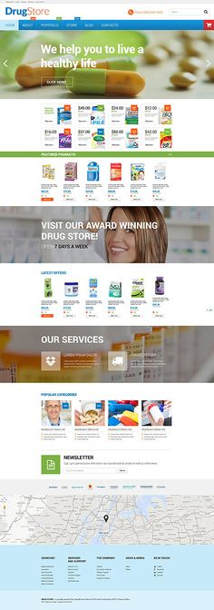 Drug Store Online #WooCommerce #template. #themes #business #responsive