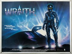 UK quad poster of the film 'The Wraith.'
