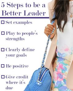 5 Ways to Be a Better Leader ~ Levo League