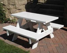 Dura-Trel Help your children enjoy outdoor activities more with the Dura-Trel Kid's Picnic Table. This sturdy vinyl table is tall, the perfect height for children. The wide tabletop offers ple Kids Table Chair Set, Round Table And Chairs, Table And Bench Set, Outdoor Tables And Chairs, Kid Table, Outdoor Seating, Patio Table, Picnic Table Plans, Wooden Picnic Tables